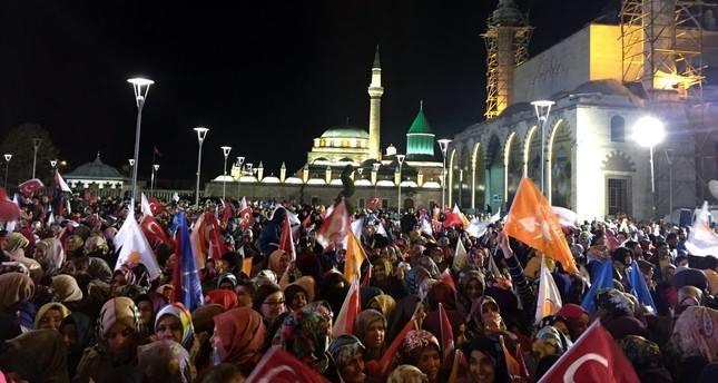 AKP-Anhänger (Foto: Daily)