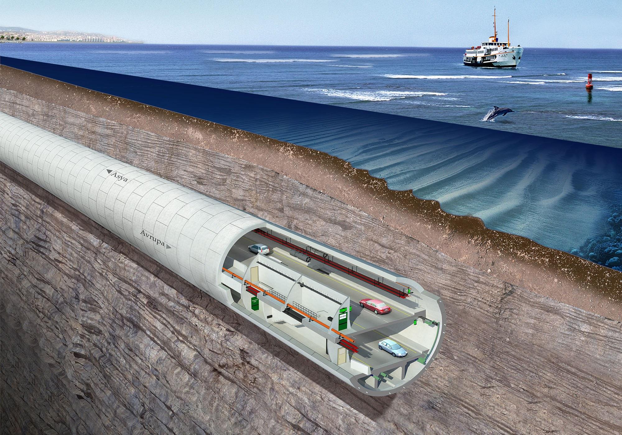 Eurasia-Tunnel Türkei (Foto: aa)